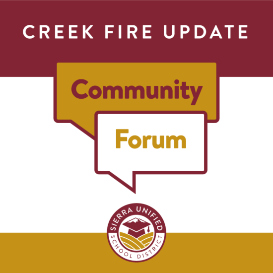Creek Fire Community Forum on Wednesday, September 16, 2020 at 4:30pm