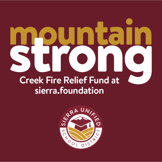 Creek Fire Relief Fund Through The Sierra Foundation