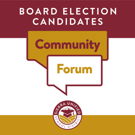 Board Election Candidates Community Forum on Monday, October 5, 2020 at 6:00pm