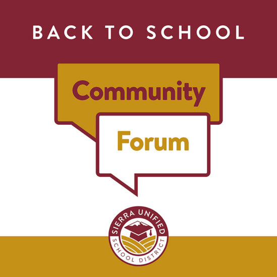 Back to School Community Forums This Week