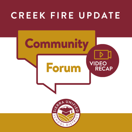 Video Recap of Creek Fire Community Forum from September 16, 2020