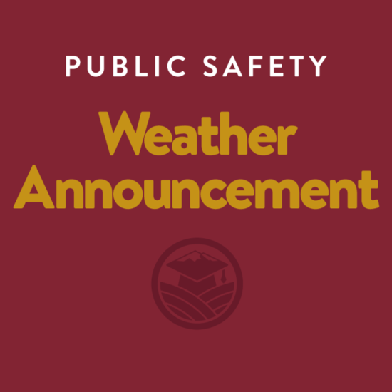 SUSD Public Safety Weather Announcement  - January 26th, 2021