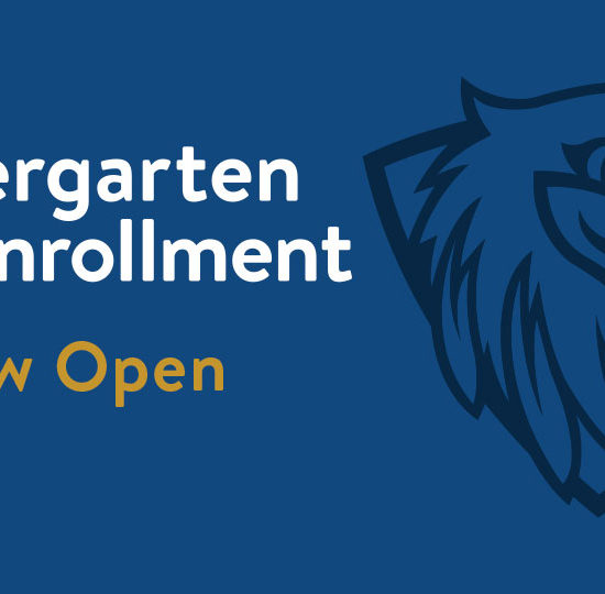 Kindergarten Enrollment Is Now Open