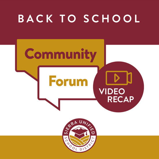 Recap Videos of Back to School Community Forums