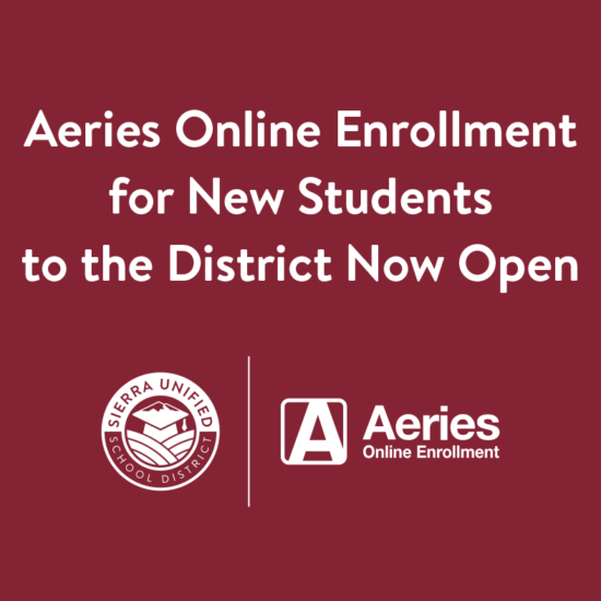 Aeries Online Enrollment for New Students to the District Now Open