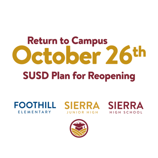 Return to Campus Monday, October 26th