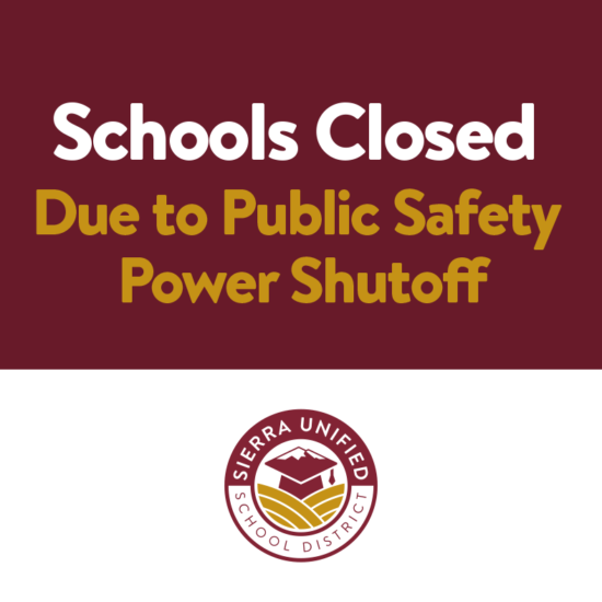 Schools Closed Due to Public Safety Power Shutoff