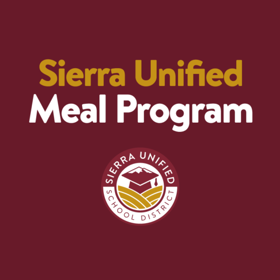 UPDATED: Sierra Unified School District Meal Program - Available January 6th-18th