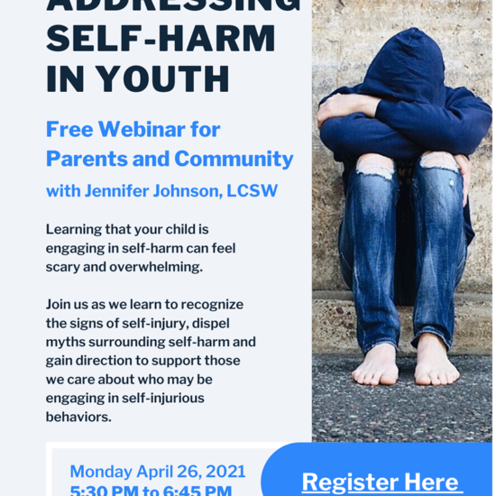 Addressing Self-Harm in Youth for Parents and Community