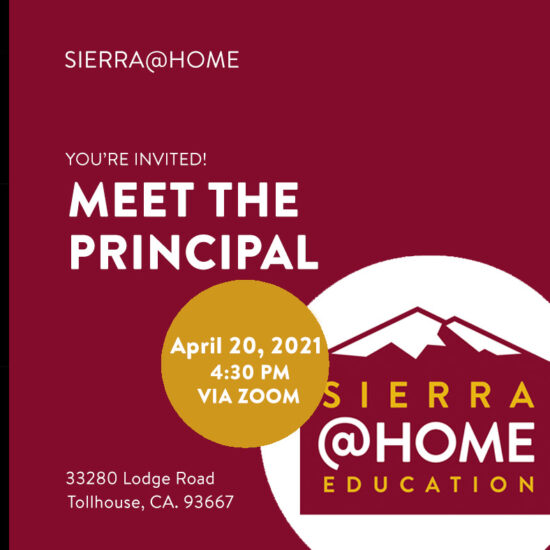 Meet the Principal for Sierra@Home