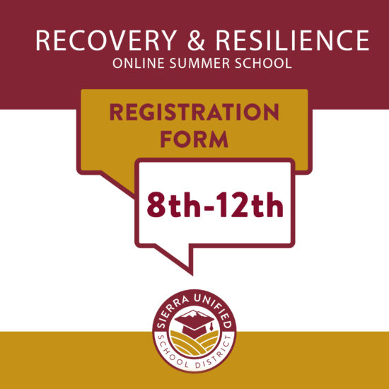 Recovery & Resilience Summer Offering 8th-12th Grades