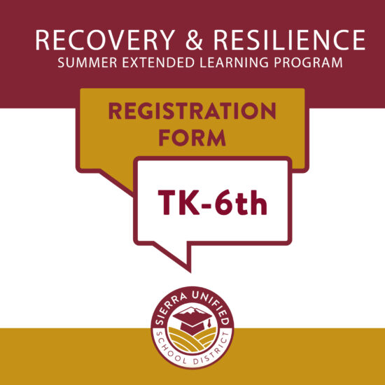 Recovery & Resilience Summer Offerings TK-6th