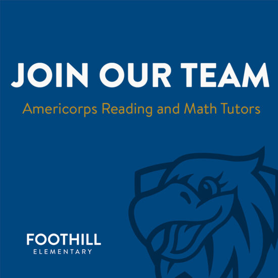 Join Our Team - Americorps Reading and Math Tutors Needed